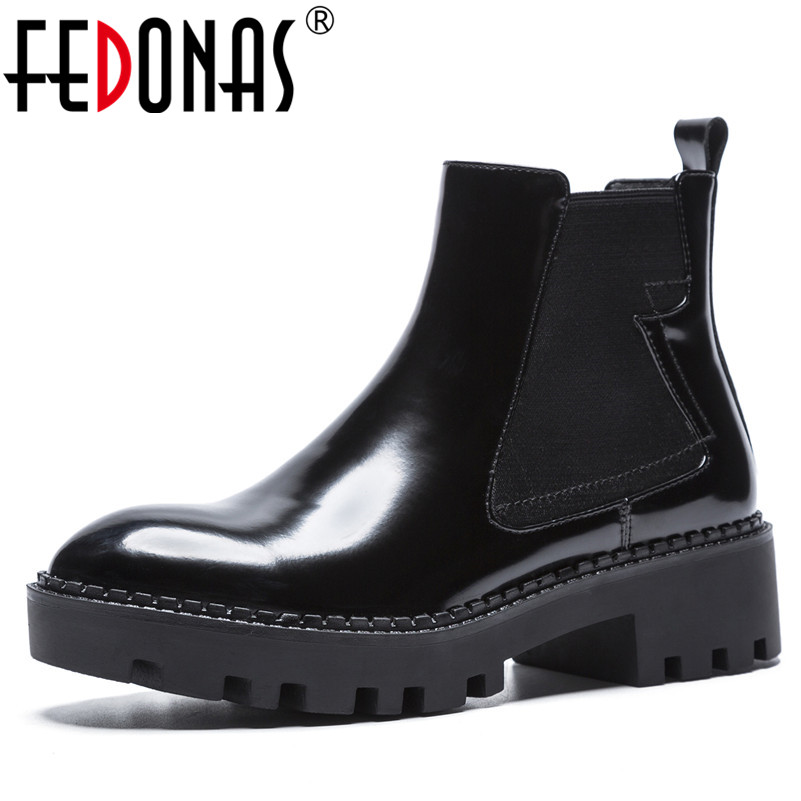 FEDONAS 1New Women Ankle Boots Genuine Leather Autumn Winter Warm Square Heels Shoes Woman Round Toe Brand Design Ladies BootsFEDONAS 1New Women Ankle Boots Genuine Leather Autumn Winter Warm Square Heels Shoes Woman Round Toe Brand Design Ladies Boots