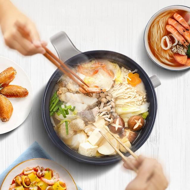 Kbxstart 1.5L Multifunction Electric Cooking Pot Heating Pan Noodles Rice Cooker Hot Pot Food Multi Cooker Machine Steamer 220V 5