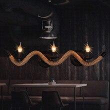 Nordic Minimalistische Wohnzimmer Restaurant Bar Deco Leuchte Amerikanischen Vintage Balkon Seil Drei Lichter Wandleuchten