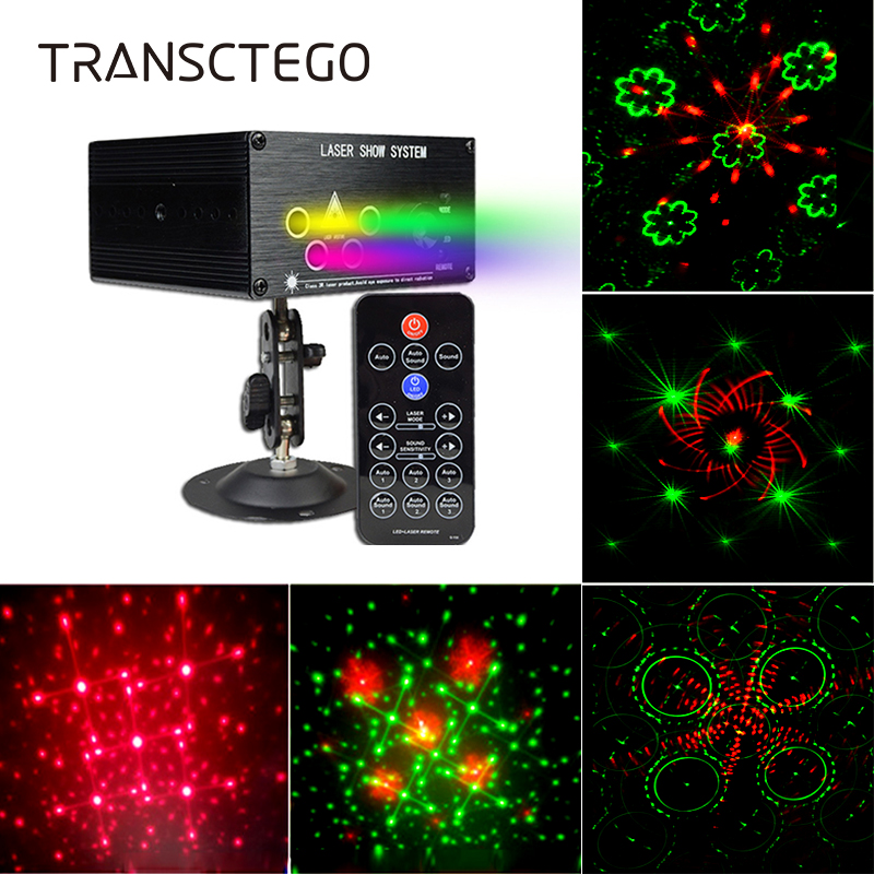 120 Patterns Laser Light DJ LED Projector Stage Lamp For Family Party Club Red Green Color Auto Sound Active Lamps Disco Lights цены онлайн