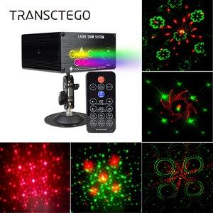 Image 1 - Luzes de discoteca luz do projetor laser música led dj lâmpada palco portátil festa família rgb cor sons automáticos lâmpadas ativas 120 padrões
