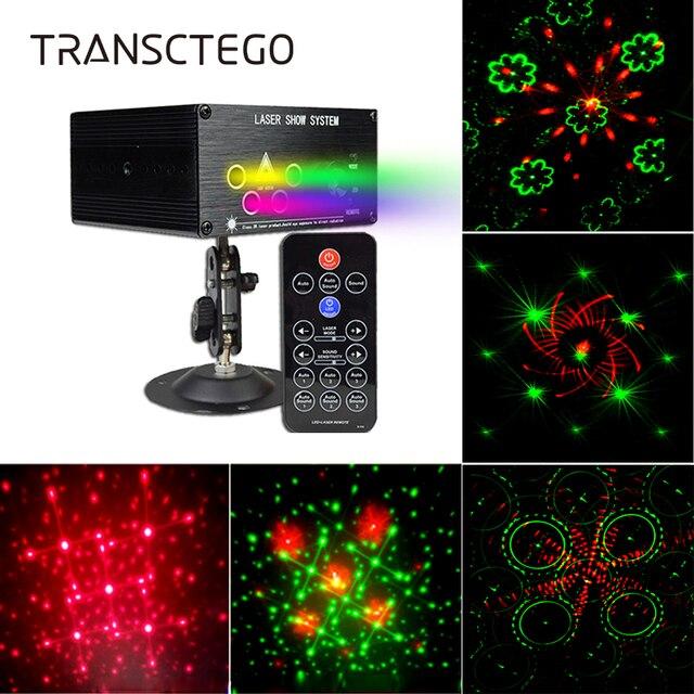 Luzes de discoteca luz do projetor laser música led dj lâmpada palco portátil festa família rgb cor sons automáticos lâmpadas ativas 120 padrões