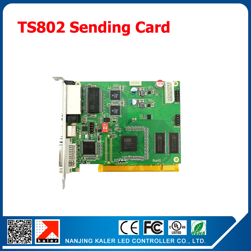Linsn led video sending card TS802 control card Full Color LED Display Sending Card Synchronous LED Controller TS802D