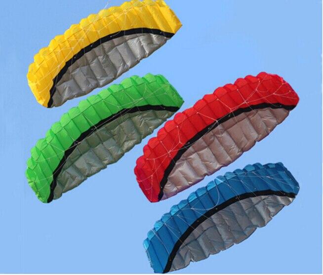 Haute qualité 2.5 m double ligne Parafoil Kite avec des outils de volants Power Braid voile Kitesurf Rainbow Beach sport