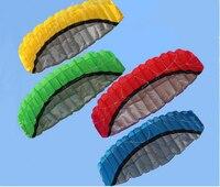 High Quality 2.5m Dual Line Parafoil Kite With Flying Tools Power Braid Sailing Kitesurf Rainbow Sports Beach
