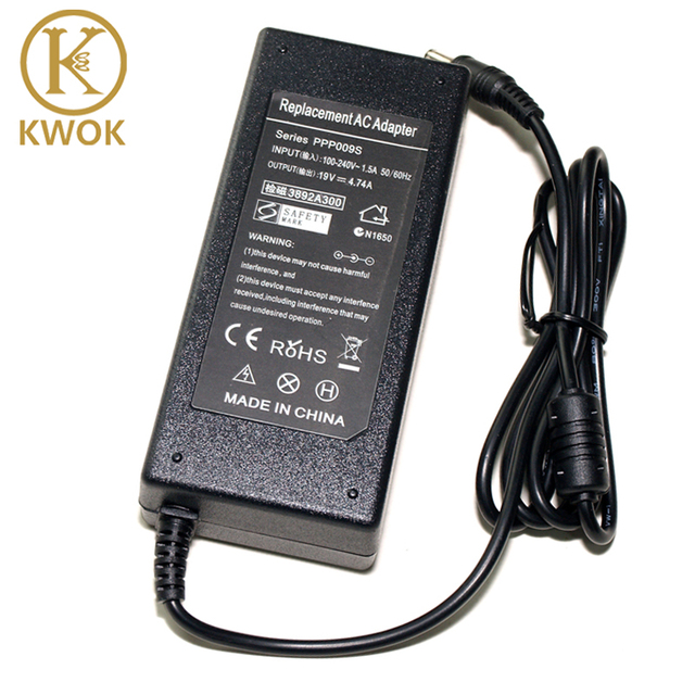 Replacement Charger 19V 474A 90W AC Adapter Laptop For Toshiba Satellite M310 M330 L800