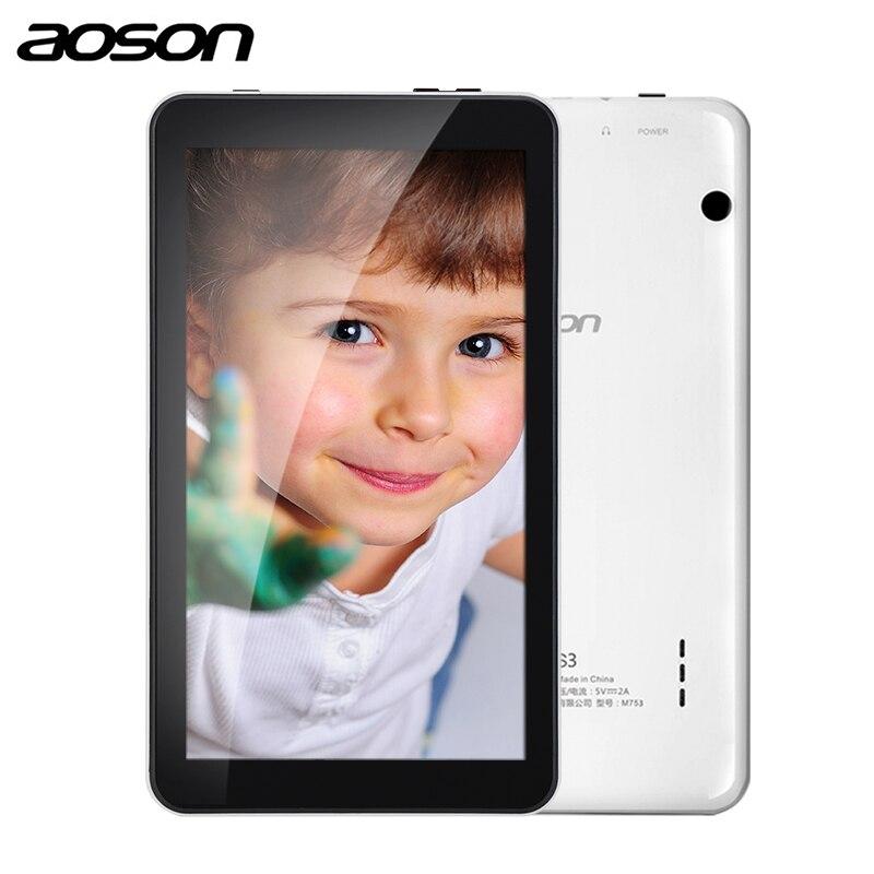 Подарочная версия aoson M753-S 7 дюймов детский планшет для детей Android 7,1 16 ГБ + 1 Гб ips 600*1024 четырехъядерный WiFi планшет с чехлом