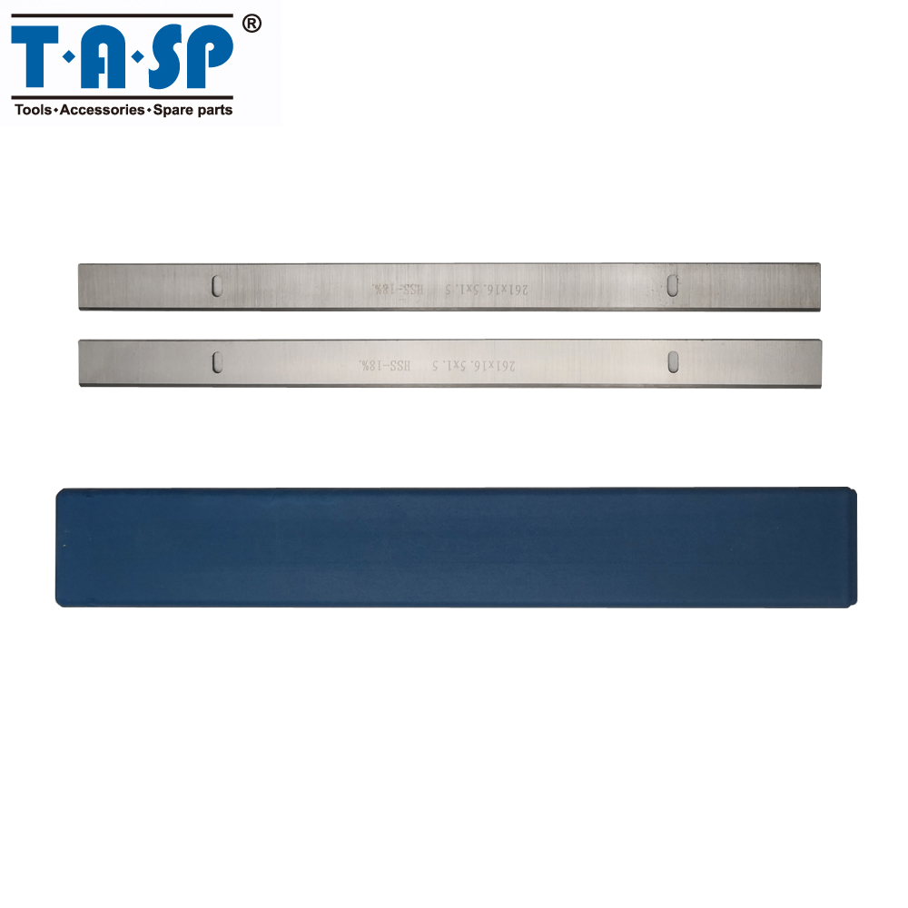 TASP 2pcs 261mm HSS Thicknesser &  Planer Blade 261x16.5x1.5mm Woodworking Knives For Scheppach HMS1070 Thicknesser JET JPT-10B