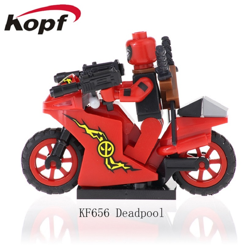KF656 Building Blocks Super Heroes Deadpool Ghost Rider With Motorcycle Matt Murdoch Bricks Figures Action Children Gift Toys