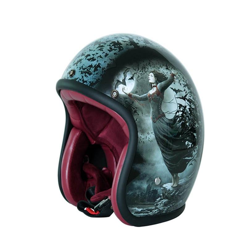 MJMOTO Vintage motorcycle helmet Open face retro 3/4 half helmet Moto Casque Casco Motocicleta Capacete Motocross para Harley