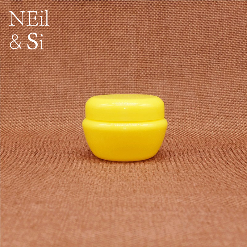 Yellow Plastic Cosmetic Jar Refillable Lip Oil Cream Container Eyeshadow Makeup Mushroom Bottle