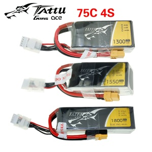 Tattu RC LiPo Battery Pack 220 450 650 850 1300 1550 1800 2500mAh 45C 75C 95C 1S 2S 3S 4S for RC FPV Racing Drone Quadcopter Toy