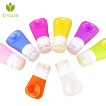 1 Pcs 38ml Empty Silicone Travel Packing Press Bottle Liquid Lotion Shampoo Bath Shower Container Suction Cup Portable Bottle