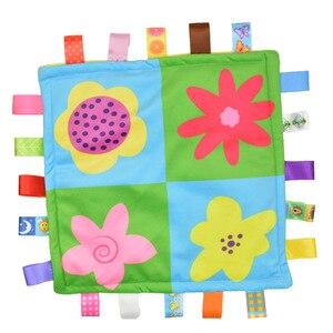 """Image 3 - 7 סגנון 30 ס""""מ תינוק מנחם Taggies שמיכת סופר רך כיכר קטיפה תינוק לפייס מגבת תינוק צעצועים"""