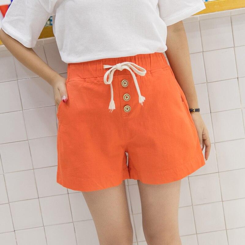 207ad7e0787 Vrouwen Katoen Linnen Korte Broek Dame Shorts Jeans Meisje Broek  Vrouwelijke Capri Oranje/Rood/Groen/Wit S/M/L/XL/2XL 26/27/28/29/48-in Korte  broek van ...