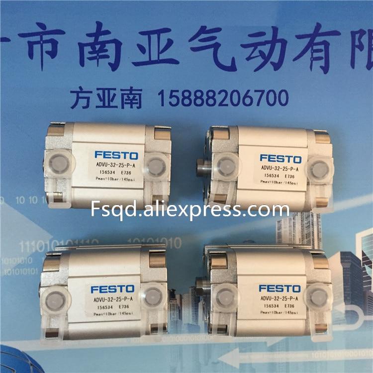 ADVU-32-20/25/30-P-A   FESTO Compact cylinders  pneumatic cylinder  ADVU series festo imported cylinder advu 25 160 a p a s6