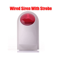 Free Shipping 12v Wired Alarm Outdoor Waterproof Sound And Flash Alarm Siren Alarm Systems Security Home
