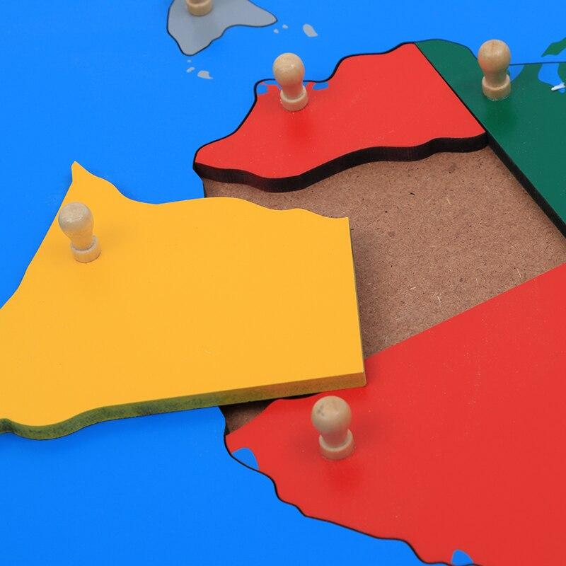 Jouet pour bébé Montessori Puzzle australie carte apprentissage et éducation éducation de la petite enfance jouets pour enfants Brinquedos Juguetes - 5