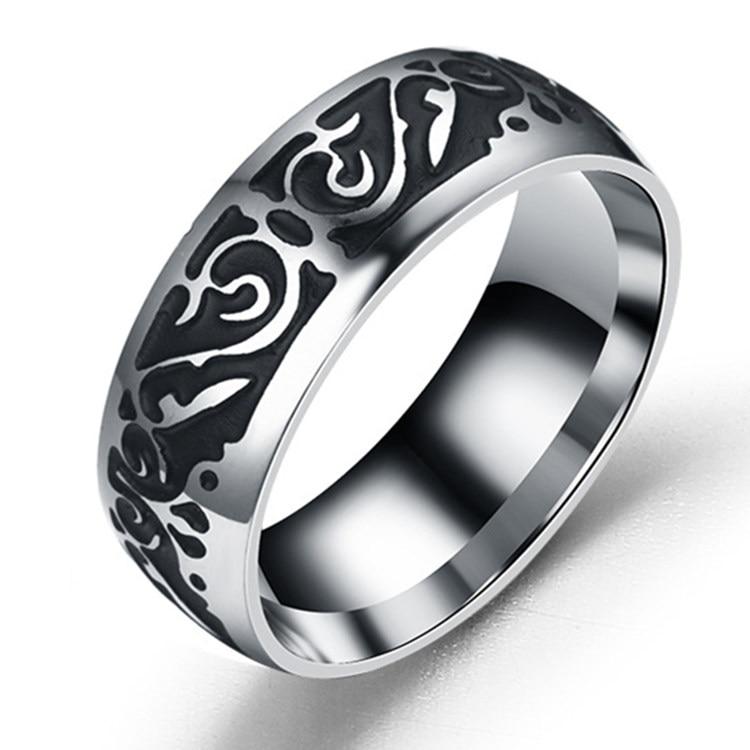 Titanium V65 Vintage Dekorativni uzorak prsten od nehrđajućeg - Modni nakit - Foto 4