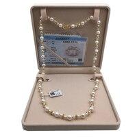 Sinya свитер цепи ожерелье жемчуг круглый натуральный жемчуг нити длинное ожерелье для Для женщин девушке маме Lover длина 85 см Диаметр 10 11 мм