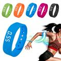 Chic Sports smart Bracelet Gym Pedometer Tracker Wristbands watches unisex Outdoor Fitness Jogging Pedometer Soft silicone H4