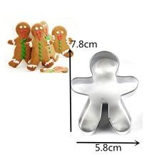 Новые рождественские формочки для печенья, инструменты из алюминиевого сплава, пряники для мужчин, праздничное печенье в форме, формочки, кухонные инструменты для украшения торта