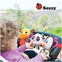 Sozzy Musical Baby Toys Stroller Cot Bed Hanging Crib Mobile Soft Panda Deer Penguin Plush Rattle