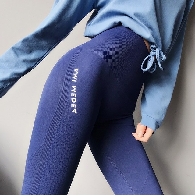 Seamless Leggings Women Gym Tight High Waist Yoga Pants Women Sport Leggings Push Up Stretch Workout Trousers Sport Running Pant by Jmyo