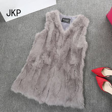 Fur Vest Women Real Rabbit Fur Vest Real Fur Coats For Women Winter Autumn Brand Sale Fur Vest Coat Fashion Outwear High Quality
