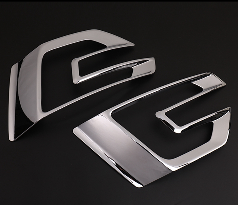 Car Accessories Fit For Ford Explorer Sport 2016 2017 ABS Chrome Exterior Front Fog Light Lamp Cover Trim Bezels Decoration 2Pcs 2pcs chrome car styling exterior abs front