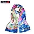 Salutto 100% Silk Scarf Women Van Gogh Painting Printing High Quality Brand Fashion Paragraph Shawl Shawls Bufanda Mujer