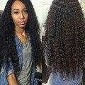 Бразильский Kinky Вьющиеся Волосы Девственницы 3 Связки Вьющиеся Переплетения Человеческих Волос Пучки Бразильские Волосы Ткать Пучки Afro Kinky Вьющихся Волос