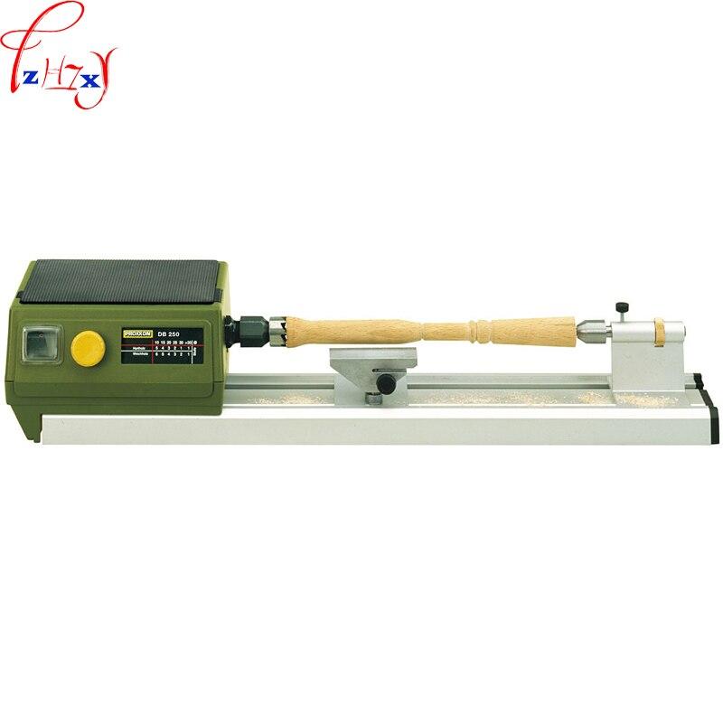 220 В 100 Вт 1 шт DIY Мини деревообрабатывающее шлифование токарный станок DB 250 домашнего использования Настольный деревообрабатывающий токарны