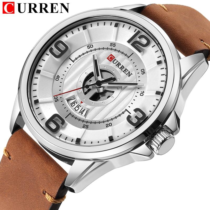 01d799535e5 CURREN Watches Men Luxury Brand Army Military Quartz Wrist Watch Casual  Business Clock Relogio Masculino Horloges Mannens Saat in Pakistan