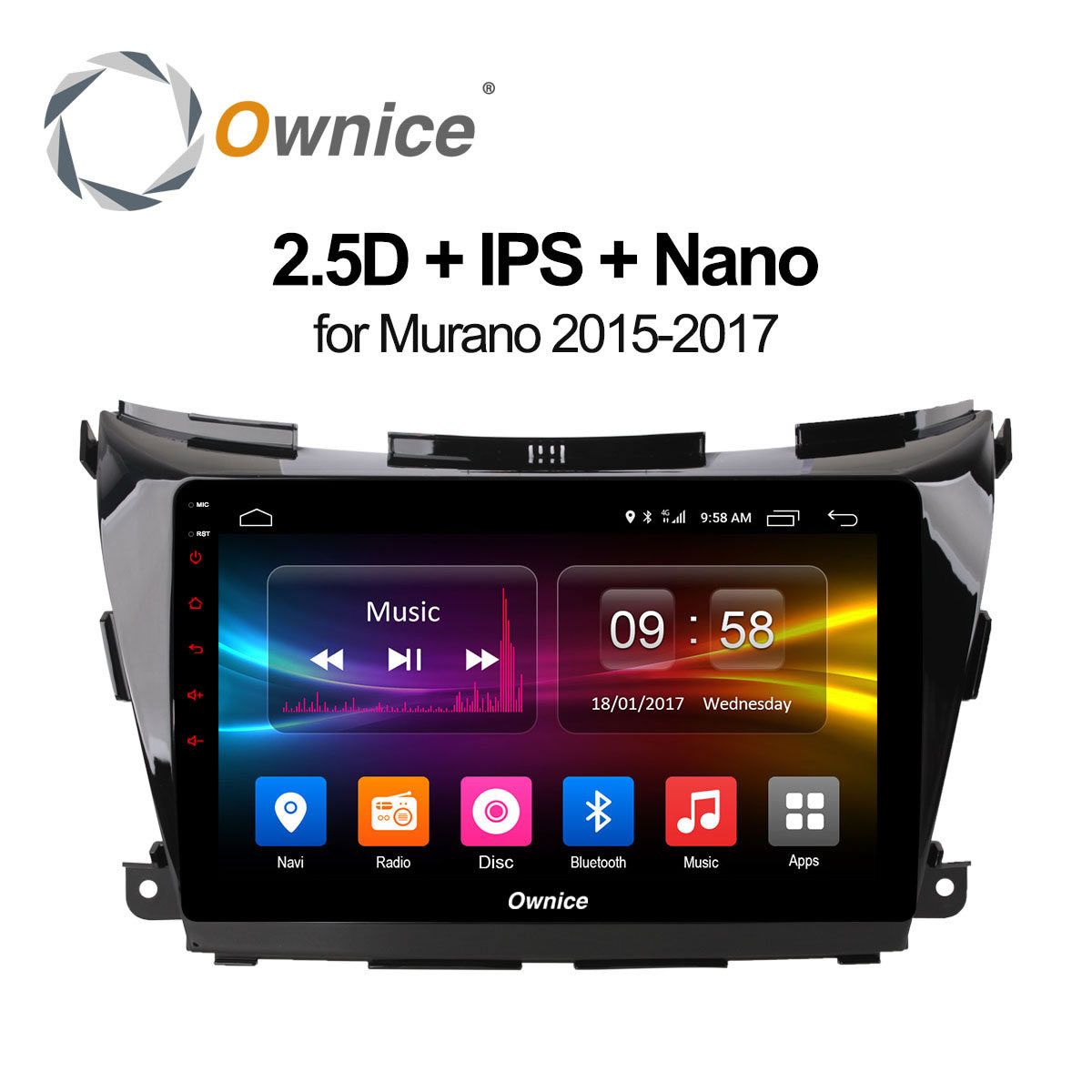 Ownice C500+ 10.1 Octa core Android 6.0 GPS NAVI DVD Radio Player For Nissan Murano Z52 2015~2017 Support 4G SIM DAB+ 32G ROM