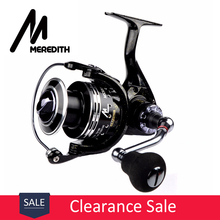 Meredith 6BB+1RB Drag Spinning Reel with Larger Spool 8-12KG Max Drag Sea Boat Spinning Fishing Reel kastking kodiak saltwater spinning reel larger aluminum spool 18kg drag boat fishing reel with 11 ball bearings 5 2 1 gear ratio