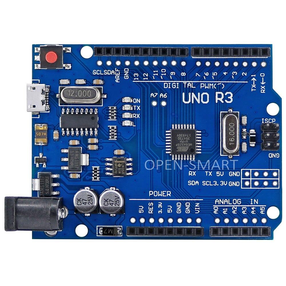 UNO R3 Conseil Mirco USB Prise ATmega328P Conseil de Développement Compatible avec Arduino UNO R3
