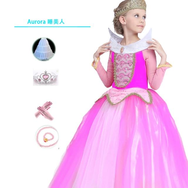 Halloween Mädchen Kleid formales Langes Rosa Kleider Kinder ...