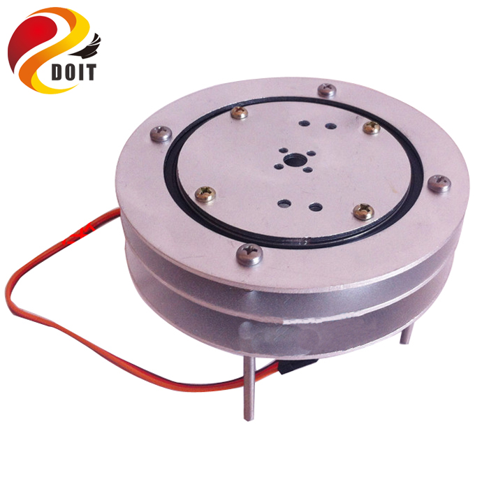 Original DOIT Circular Rotating Base for Mechanical Arm/ Cloud Deck Rotating Base Fixed Special floor/chassis metal circular rotating base camera photography turntable for standard servo f17314
