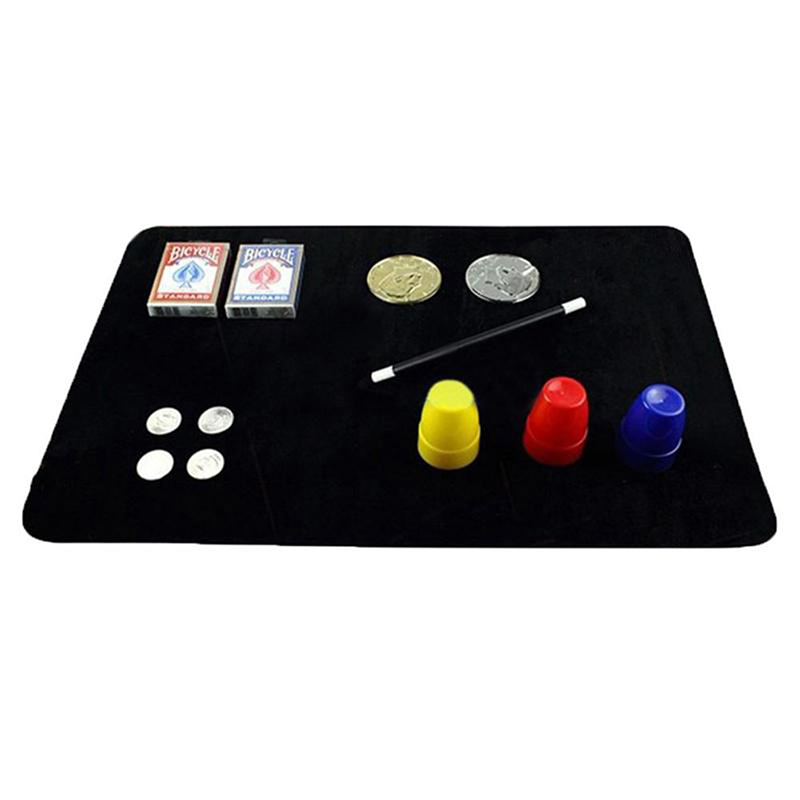 Easy To Do Street Magical Props For Beginners New Arrivals Magical Card Mat Magicians Trick Poker Coin Mat Card Pad