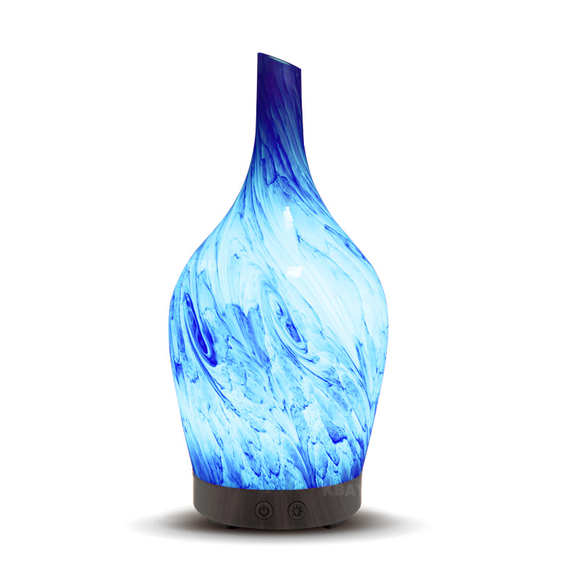 100ml Glass Aromatherapy Humidifier Essential Oil Diffuser Ultrasonic Quiet Home Office Living Room Spa Yoga hot sale humidifier aromatherapy essential oil 100 240v 100ml water capacity 20 30 square meters ultrasonic 12w 13 13 9 5cm