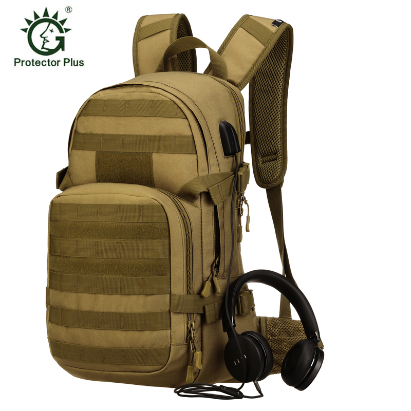 Protector Plus USB do ładowania na zewnątrz wodoodporny plecak jazda na rowerze plecak wojskowy taktyczny plecak wspinaczka plecak podróżny w Torby wspinaczkowe od Sport i rozrywka na AliExpress - 11.11_Double 11Singles' Day 1