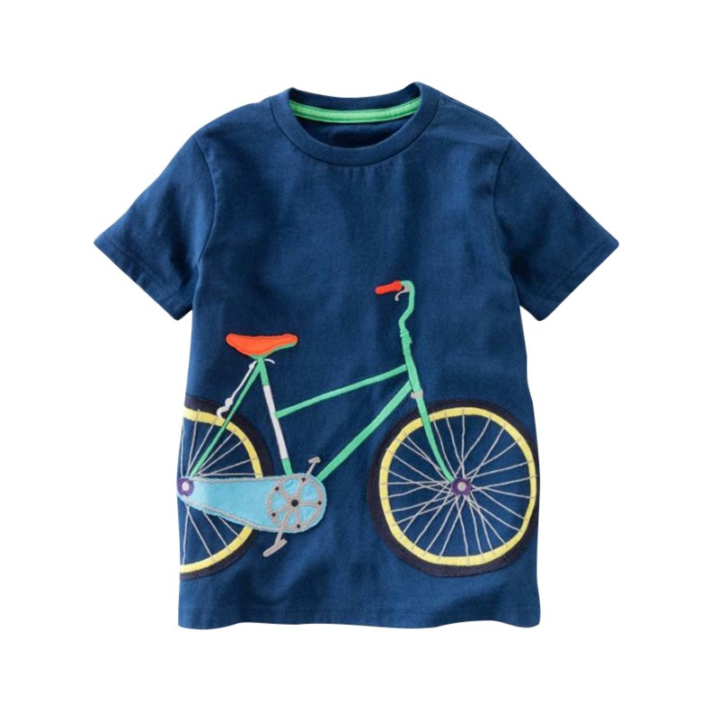 Baby Boys T-shirt Cartoon printing Short Sleeve Summer Tee Shirts Tops Comfortable For Dressing In Different Places ...