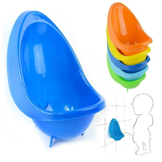 Parede-pendurado Wc Crianças Plásticas Crianças Pee Instrutor Crianças Meninos Criança de Treinamento Potty Potty Higiênico De Plástico Sólido 6 Cores Availble