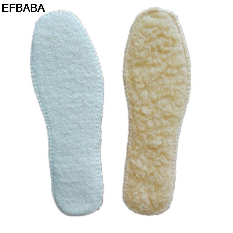 EFBABA Winter Warm Insoles Wool Felt Shoe Pad Fur Men Women Shoe Insole Accessoire Chaussure Sweat Breathable Shoes Insoles Pads