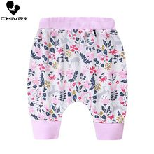 Chivry Newborn Baby Boys Girls Cute Cartoon Print Harem Pants PP Infant Casual Bottom Trousers Clothes