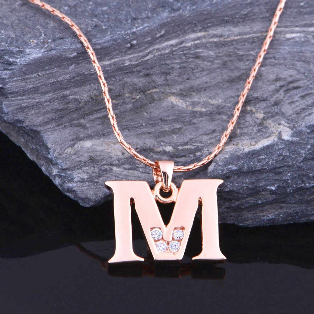 Буквы A B C D E F G H I J L M N O P I S T U V W X Y Z ожерелья для мужчин/женщин розовое золото цвет Uloveido модные украшения