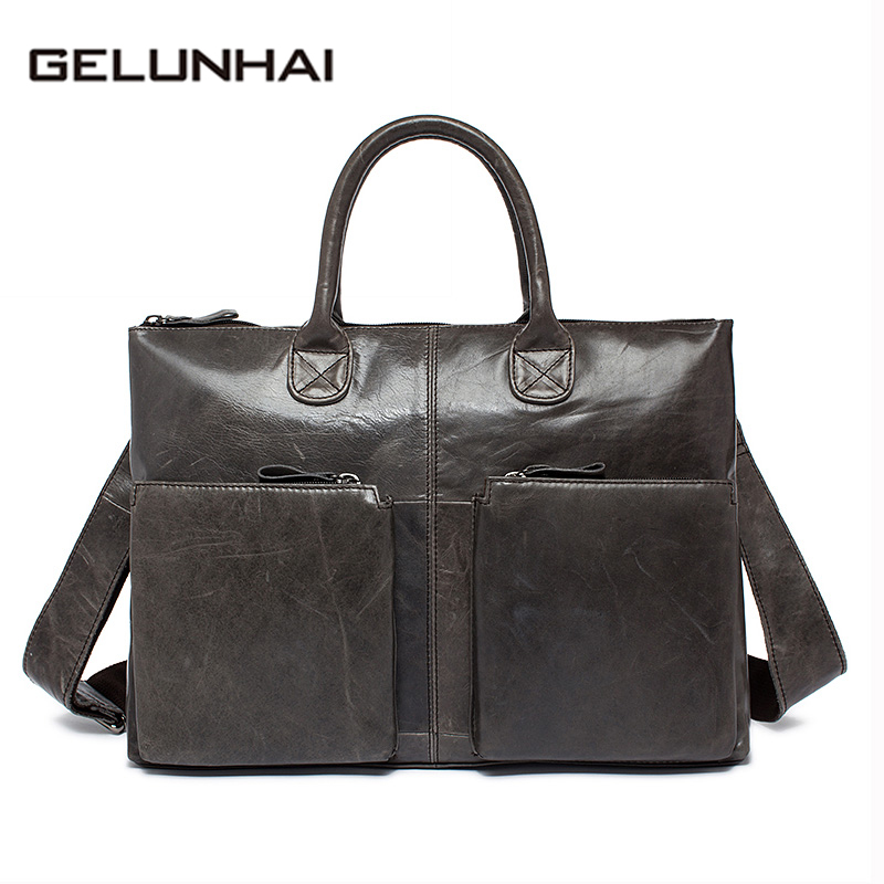 2017 Top Special Offer Polyester Soft Genuine Leather Bag Handbags Cowhide Men Crossbody Bags Men's Tote Laptop Briefcases L502 lacus jerry genuine cowhide leather men bag crossbody bags men s travel shoulder messenger bag tote laptop briefcases handbags