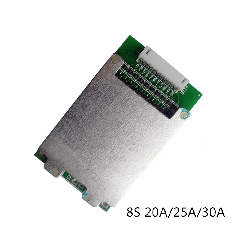 Balance 8S 20A/8S 25A/8S 30A BMS Board Same-port Lithium Battery Protection Board With Temperature Switch Equalization Function