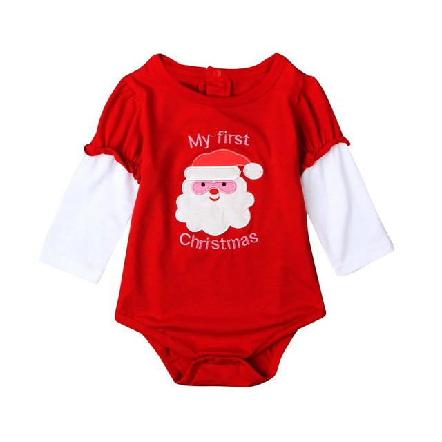 985d8462a New Year Outfits Christmas Cute Long Sleeve Newborn Baby Rompers ...